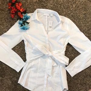 White Button Down stretch shirt NY & Company